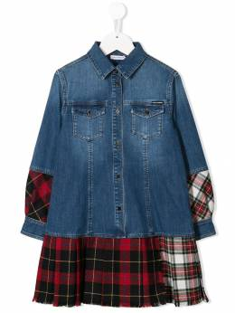 Dolce & Gabbana Kids - plaid shirt dress DS9LD853955638850000