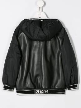 Dolce & Gabbana Kids - leather bomber jacket B96JG3SVMS9538396800