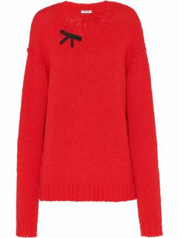 Miu Miu - bow detailed jumper 0009UGN9538006900000
