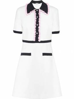 Miu Miu - ruffle trims jersey dress 33568Y95380056000000