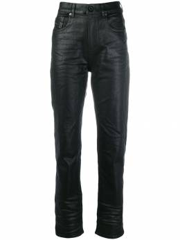 Diesel Black Gold - waxed-effect high-waisted trousers D35BG939955969090000