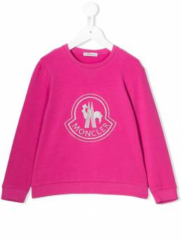 Moncler Kids - embroidered logo sweater 55568303595393063000