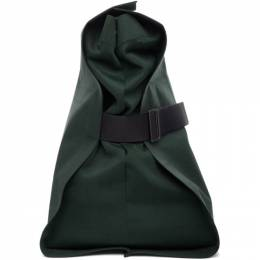 132 5. Issey Miyake Green Unstrucured Layered Backpack 192302M16600101GB