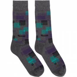 Boss Grey Square Socks 192085M22001701GB
