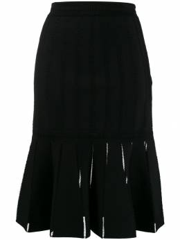 Alexander McQueen - pleated midi skirt 933Q9AI6953396350000