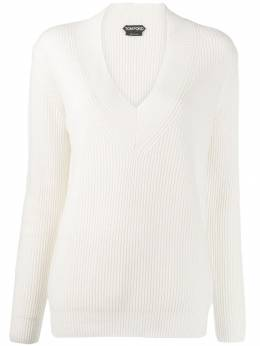 Tom Ford - ribbed v-neck jumper 906YAX00595595330000