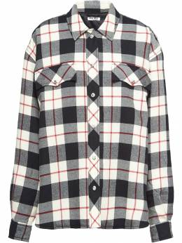 Miu Miu - plaid shirt jacket 699UUD95380036000000