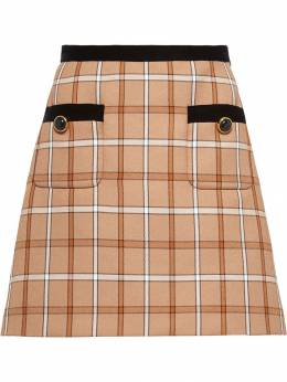 Miu Miu - check A-line mini skirt 0699TYZ9538095000000