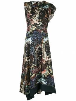 3.1 Phillip Lim - twisted printed asymmetrical dress 99065TWP950936630000