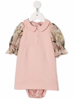 Dolce & Gabbana Kids - floral sleeve dress DQ3G3SYY953856680000