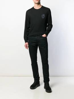 Alexander McQueen - Skull embroidery knitted sweater 936QNX35955698650000
