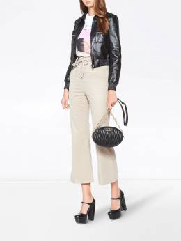 Miu Miu - lace-up flared trousers 3639CMT9538005600000