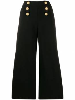 Stella McCartney - decorative buttons flared trousers 306S0636953365350000