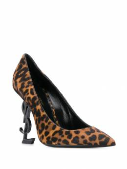 Saint Laurent - Opyum leopard print pumps 9556TOVV955969330000