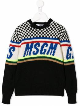 Msgm Kids - knitted logo sweater 33595506066000000000