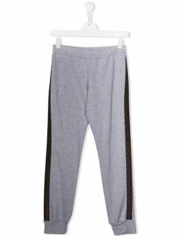 Fendi Kids - TEEN logo track trousers 9595V695388969000000