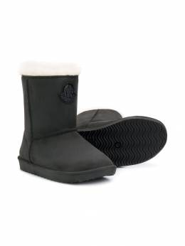 Moncler Kids - logo patch boots 966660S5N95383653000