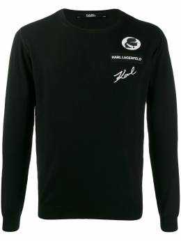 Karl Lagerfeld - logo embroidered sweater 66365903999559395500