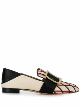 Bally - embroidered loafers 89969535300300000000