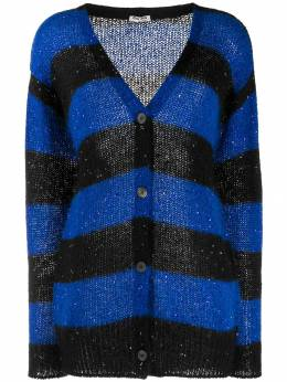 Miu Miu - sequins embellishment striped cardigan 9569UGQ9550066900000
