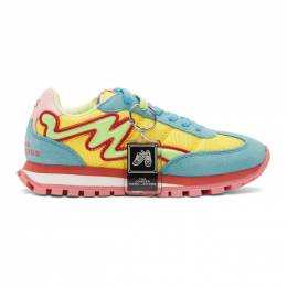 Marc Jacobs Blue and Yellow The Jogger Sneakers 192190F12800102GB
