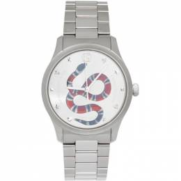 Gucci Silver G-Timeless Snake Watch 192451M16501801GB