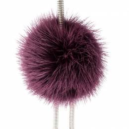 Fendi Multicolor Embellished Sliver Tone Fur Chick Bag Charm 220303
