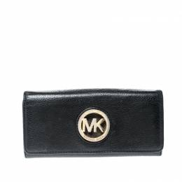 Michael Kors Black Leather Fulton Wallet 219949