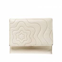 Montblanc Off White Leather Strarisma Compact Wallet 219941