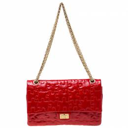 Chanel Red Puzzle Patent Leather Reissue 2.55 Classic 226 Flap Bag 216906