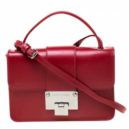 Jimmy Choo Red Leather Rebel Crossbody Bag 218050