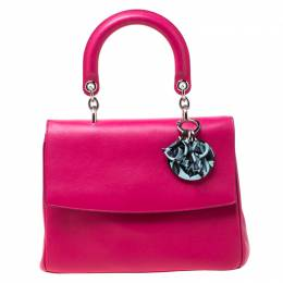 Dior Magenta Leather Small Be Dior Top Handle Bag 217409