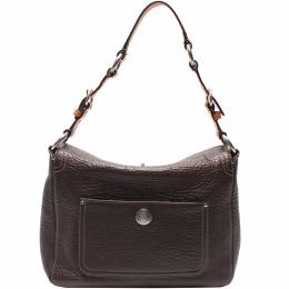 Coach Brown Pebbled Leather Chelsea Crossbody Bag 219407