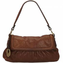Fendi Brown Leather Chef Baguette Bag 214743
