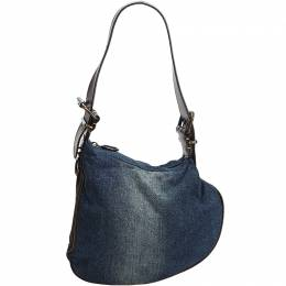 Fendi Blue Denim Oyster Bag 214735