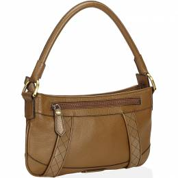 Burberry Brown Leather Baguette Bag 214368