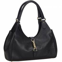 Gucci Black Leather New Jackie Leather Hobo Bag 214696