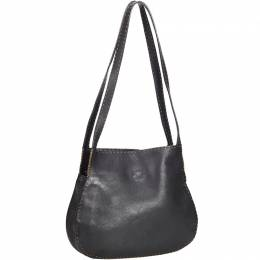 Fendi Black Selleria Leather Shoulder Bag 214263