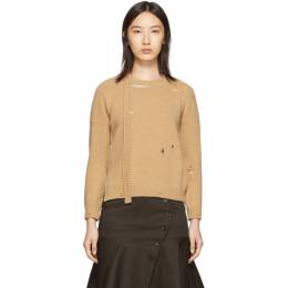 Marc Jacobs Beige The Worn And Torn Crewneck Sweater 192190F09600602GB