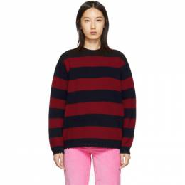 Marc Jacobs Red The Grunge Crewneck Sweater 192190F09600201GB