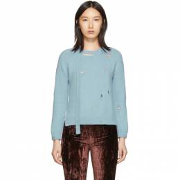 Marc Jacobs Blue The Worn And Torn Crewneck Sweater 192190F09600701GB