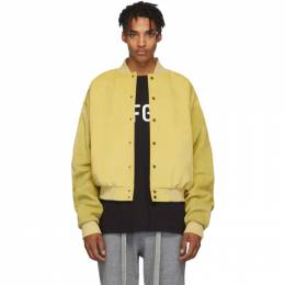 Fear Of God Yellow Suede Sixth Collection Varsity Jacket 192782M18100102GB