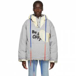 Off-White Reversible Grey and Red Puffer Jacket 192607F06101202GB
