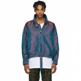 Fear Of God Burgundy and Blue Iridescent Track Jacket 192782M18001002GB