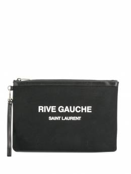 Saint Laurent - клатч Rive Gauche с логотипом 30096NAE938395650000