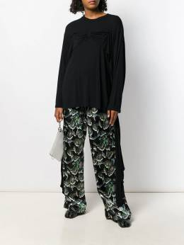 Mm6 Maison Margiela - printed wide-leg trousers KA6539S5000995590939