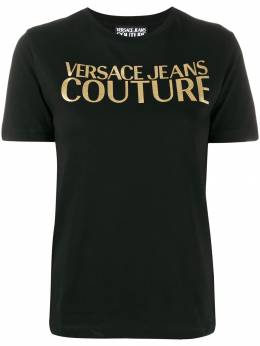 Versace Jeans - gold-tone decal T-shirt UB3K5360959556953900