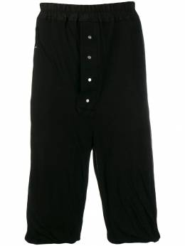 Rick Owens DRKSHDW - drawstring cropped trousers 9F6333B9550633500000