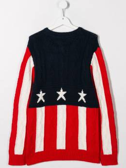 Tommy Hilfiger Junior - TEEN American flag cable-knit jumper KB656399535963900000