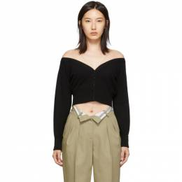 Alexander Wang Black Sheer Yoke Cardigan 192187F09500202GB